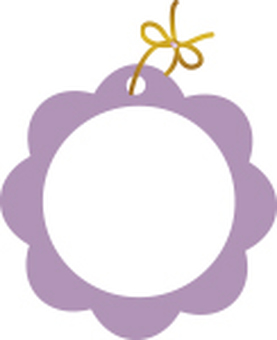Cute flower tag purple