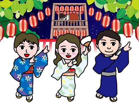 Bon dance with yukata (2) summer night