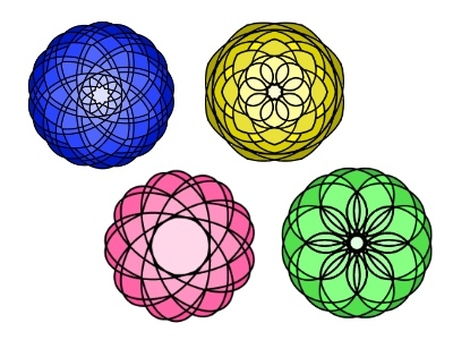 Colorful flower pattern