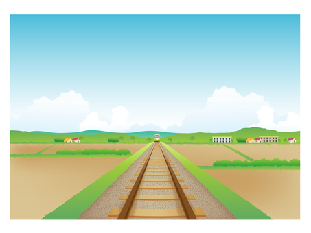 Background with railway tracks