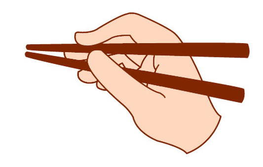 How to hold chopsticks 2