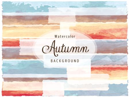 Background watercolor picture watercolor autumn color