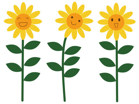 3 sunflowers (face)