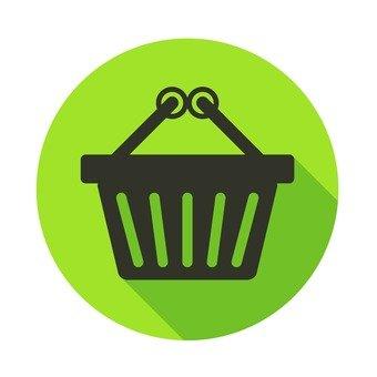 Flat icon - Shopping cart