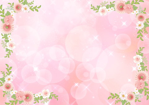 Flower frame and plant _ Pink