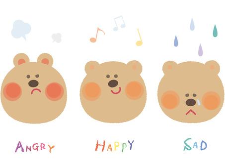Facial expression _ bear