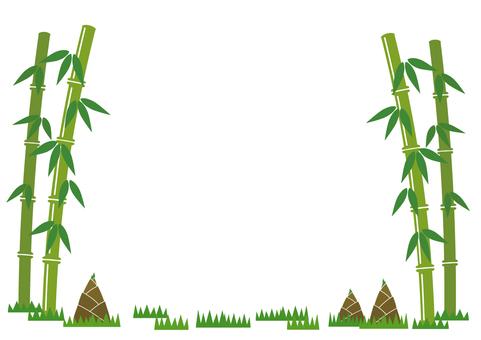 Bamboo and bamboo shoots frame