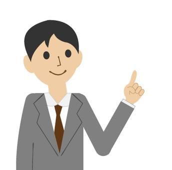 Illustration of pointing (businessman)