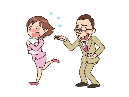 【I do not want such a boss】 The sexual harasser
