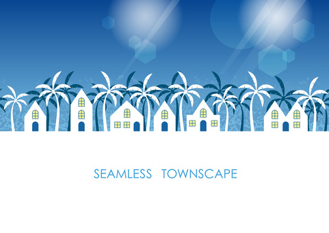 Seamless illustration of streetscape