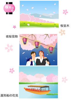 벚꽃의 풍경