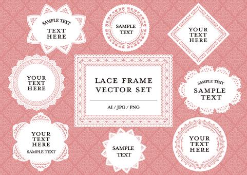 Lace text frame set