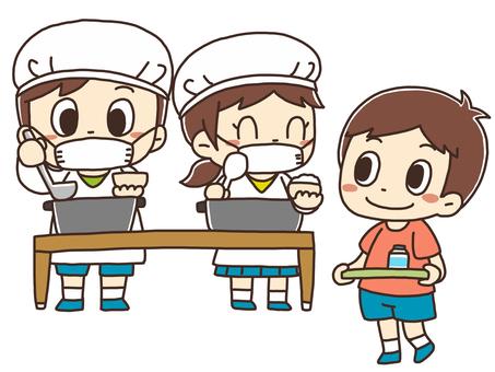 插圖供應午餐