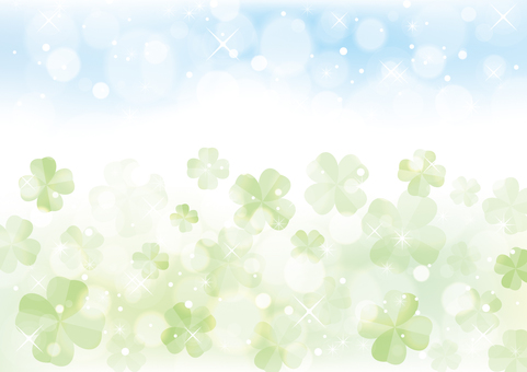 Four leaf clover background material 09