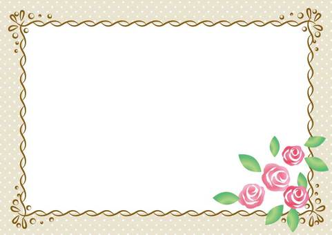 Girly material 010 Rose frame