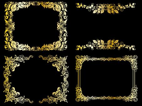 Frame gold set