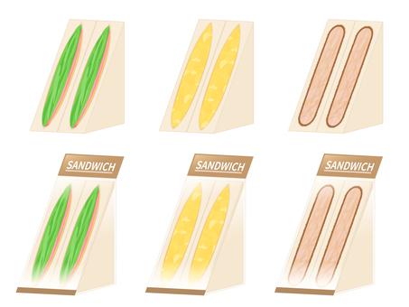 Sandwich set seen from an angle
