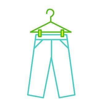 Hanger and trousers
