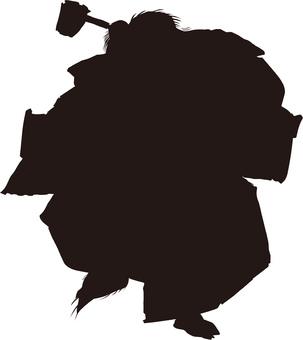 Ukiyo-e character silhouette part 94