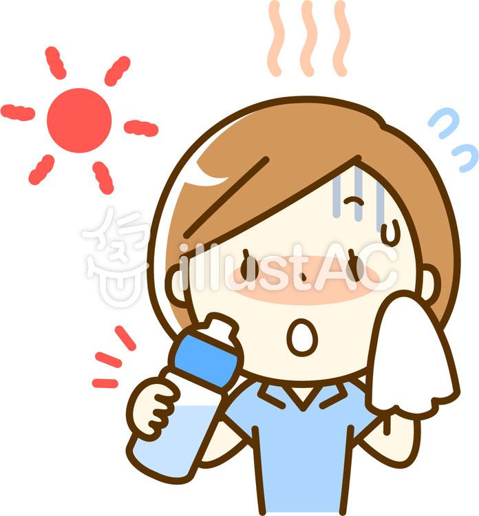 熱中症対策の水分補給イラスト No 1167456無料イラストなら