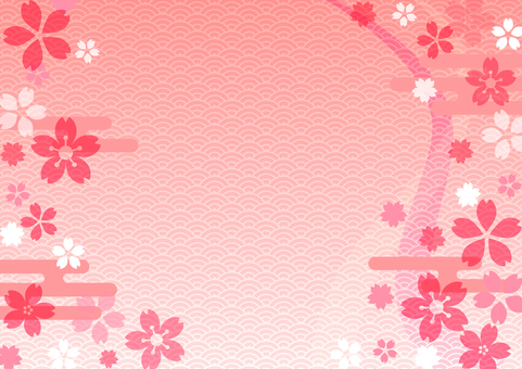 Japanese style background cherry - 7