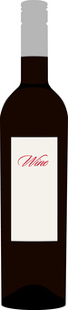 Bottle of wine (red)
