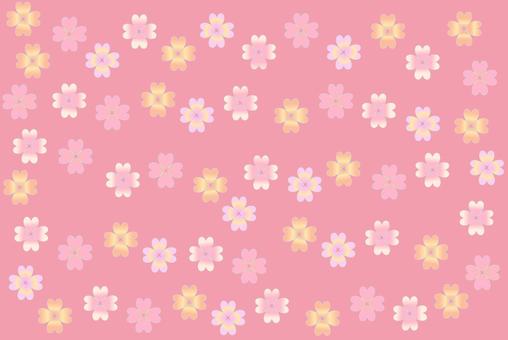 Floret (background: pink)