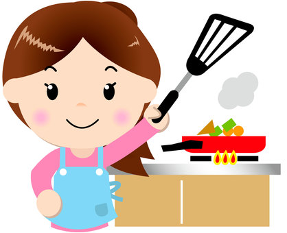 Apron woman _ upper body (cooking)
