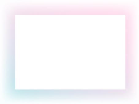 Gradient frame (pink & light blue)
