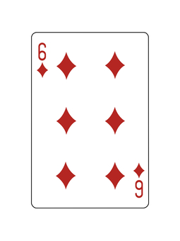 Playing card diamond 6