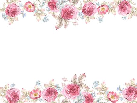 Flower frame 419 Gorgeous crimson rose flower frame