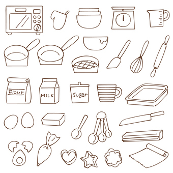 Cooking line drawing icon