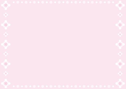 Frame - flower enclosure - pink
