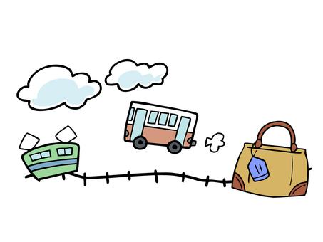 Travel image illustration
