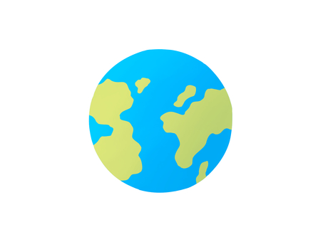 Earth mark global material icon