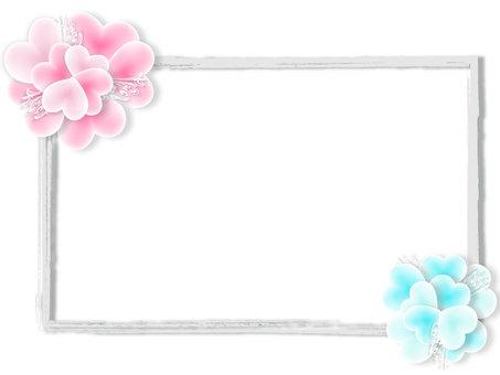 Heart petal frame
