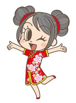 Chinese New Year Chinese Girl