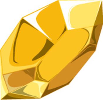 Stone fragments yellow