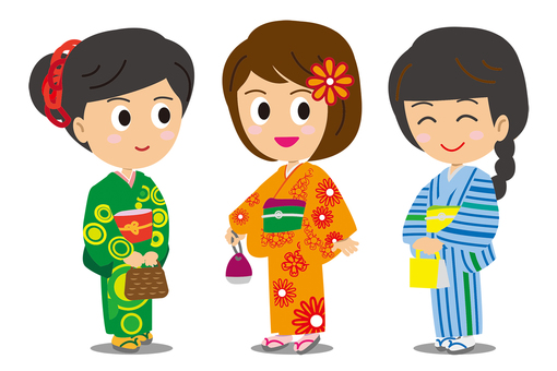 3 women in yukata