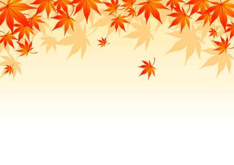 Autumn leaves background material 1
