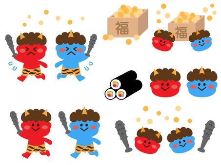 Setsubun (bean maki) set (cute series)