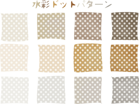 Water color dot pattern 3