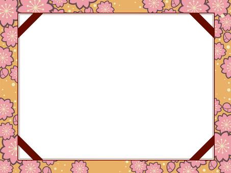 벚꽃 무늬의 프레임 17