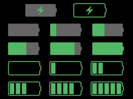 Charging mark icon set