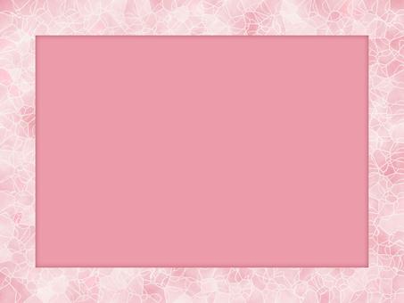 핑크 균열 유리 장식 프레임 카드