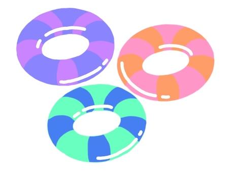 줄무늬 다채로운 튜브 세트