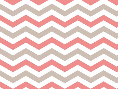 Chevron pattern ● Pink × gray