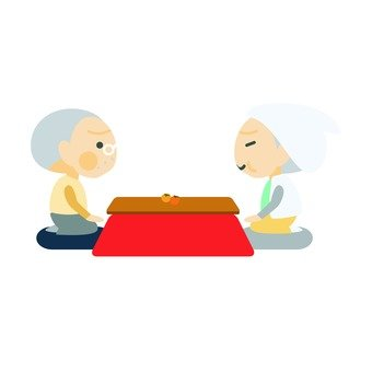 Kotatsu and old couple