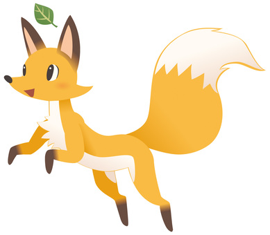 Cute child fox