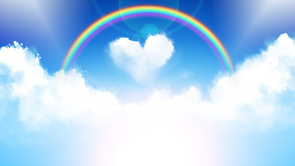 Cielo azul, Heart Cloud 1600 × 900